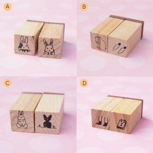 8 Mini Wood Stamp